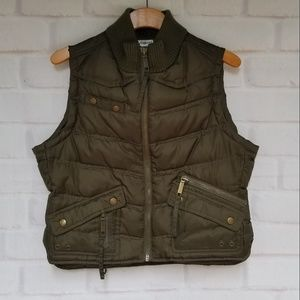 No Boundaries Army Green Puffy Vest